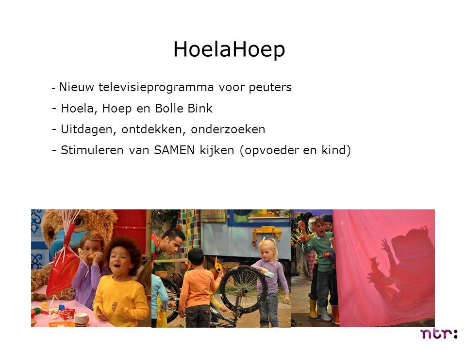 HoelaHoep - Nieuw televisieprogramma voor peuters - Hoela, Hoep en Bolle Bink - Uitdagen, ontdekken, onderzoeken - Stimuleren van SAMEN kijken (opvoed