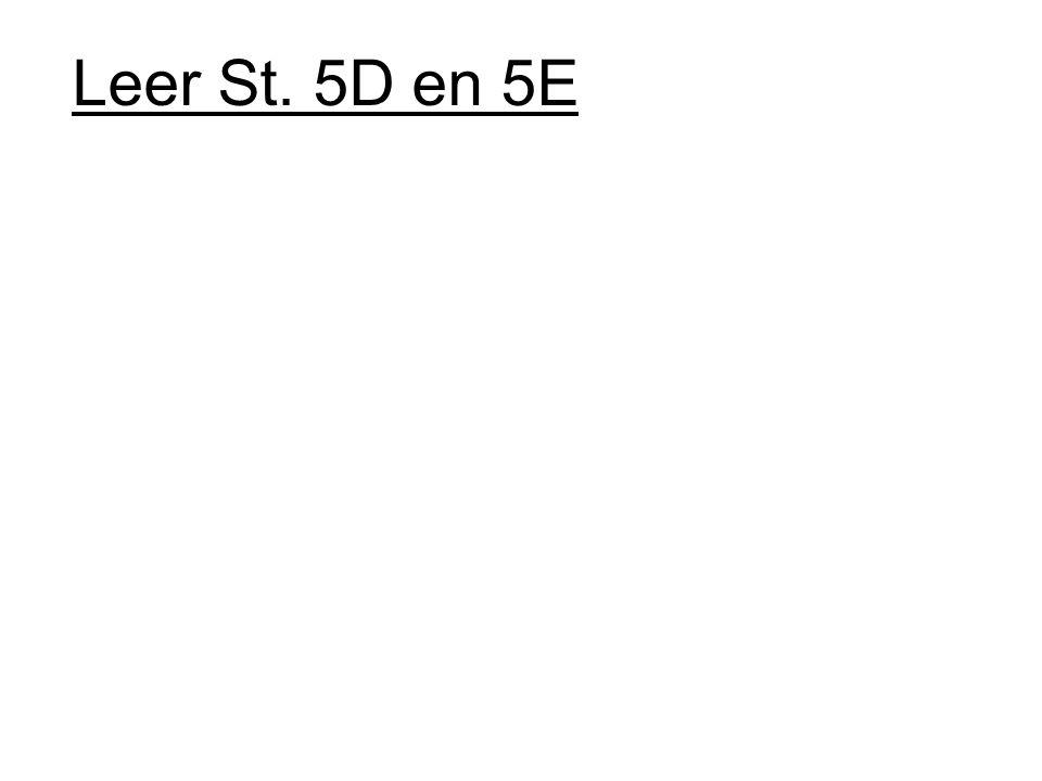 Leer St. 5D en 5E