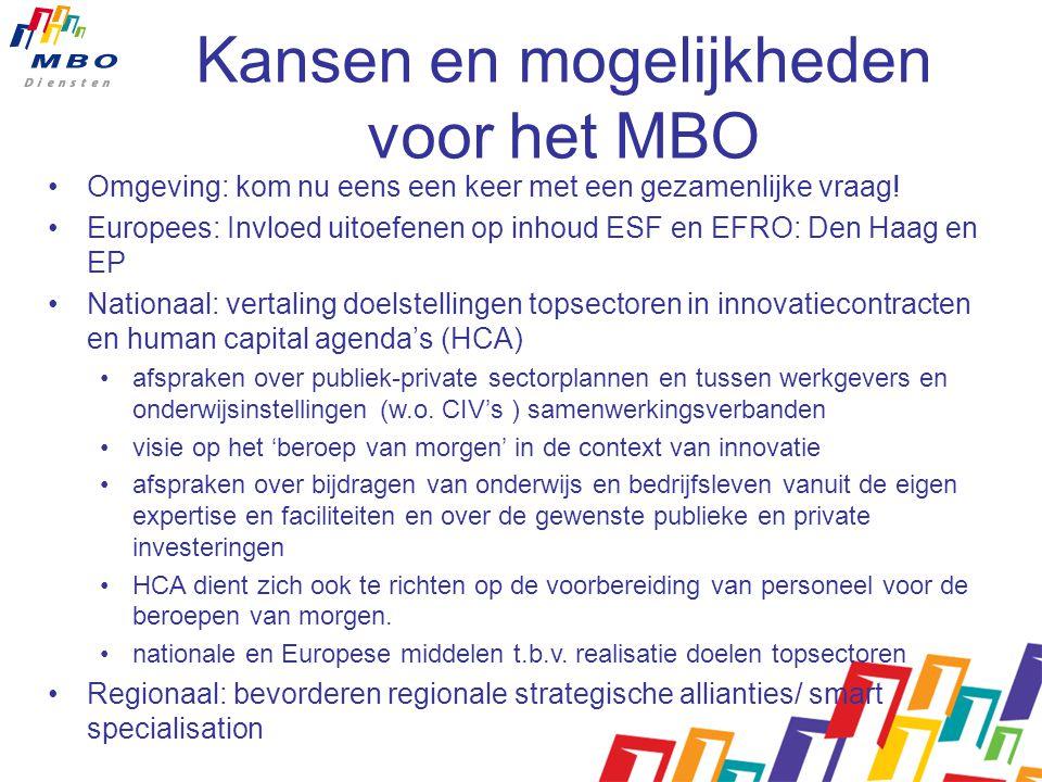 Kansen en mogelijkheden voor het MBO Omgeving: kom nu eens een keer met een gezamenlijke vraag.