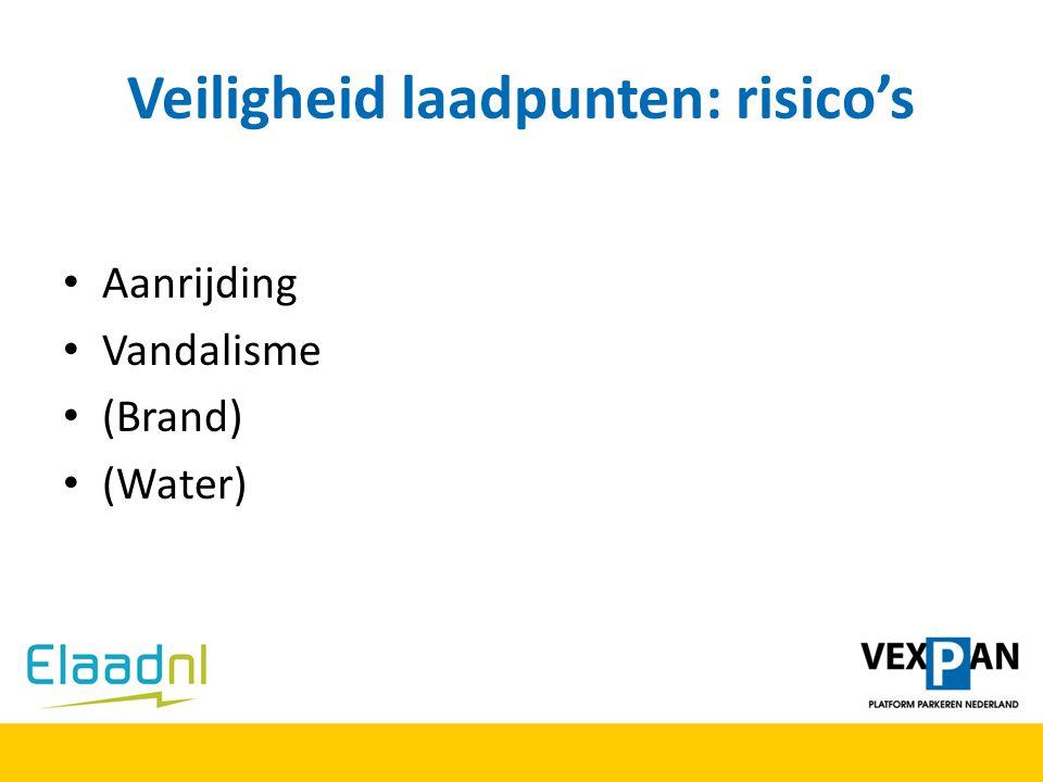 Veiligheid laadpunten: risico's Aanrijding Vandalisme (Brand) (Water)