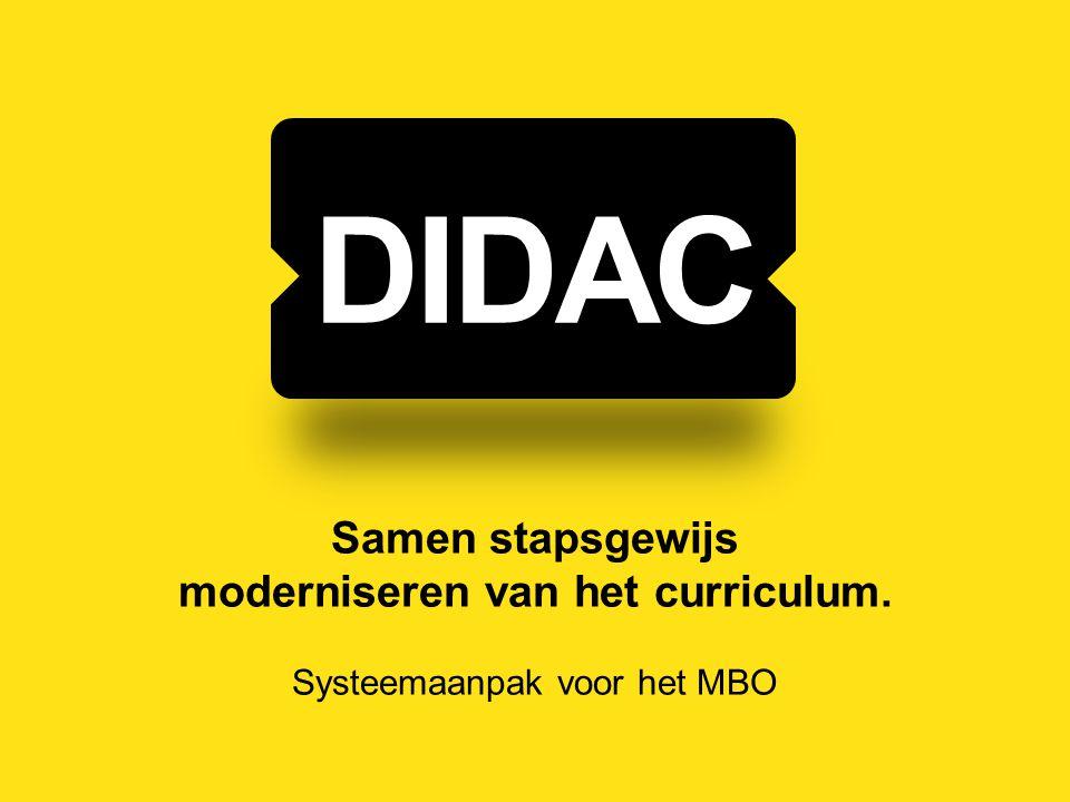 Samen stapsgewijs moderniseren van het curriculum. Systeemaanpak voor het MBO DIDAC