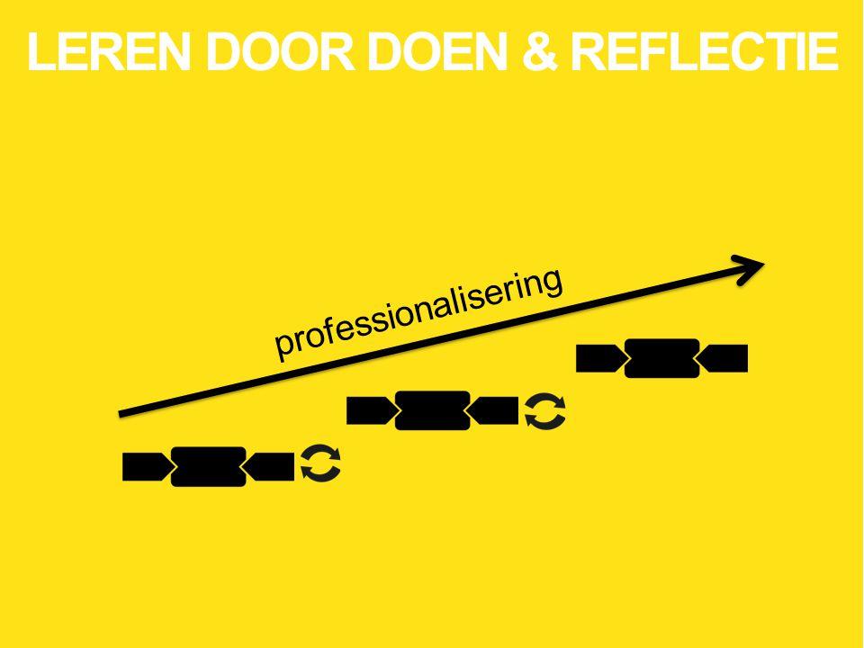 professionalisering LEREN DOOR DOEN & REFLECTIE
