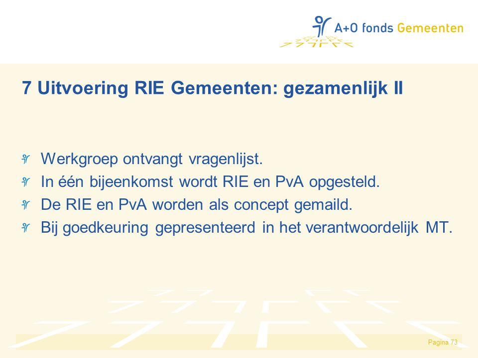 Werkgroep ontvangt vragenlijst.In één bijeenkomst wordt RIE en PvA opgesteld.