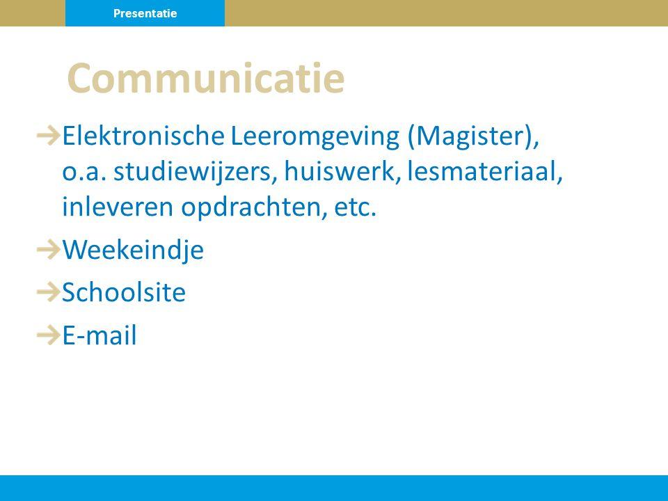 Elektronische Leeromgeving (Magister), o.a.