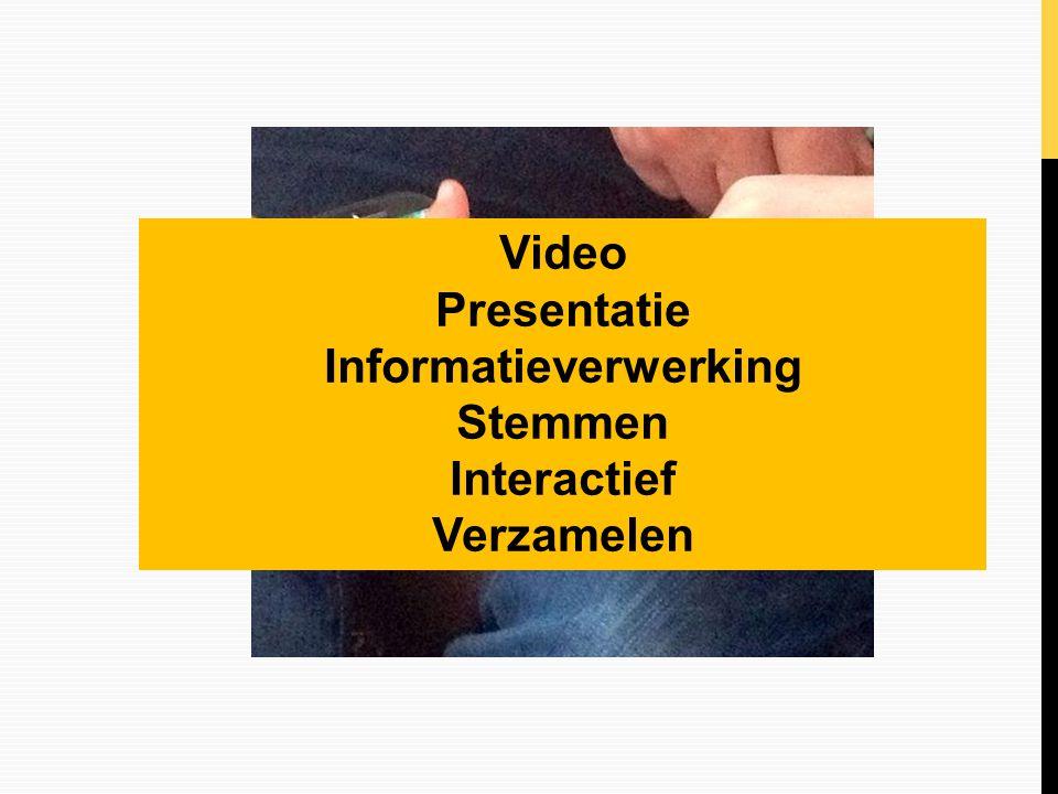 Video Presentatie Informatieverwerking Stemmen Interactief Verzamelen
