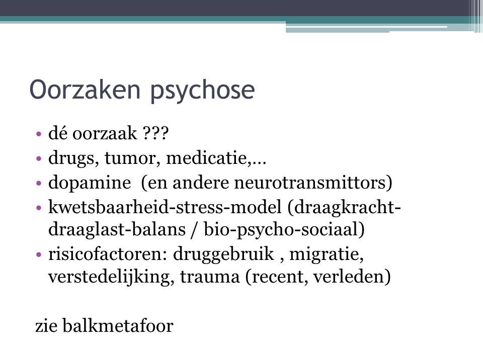 3) Andere psychiatrische problematiek Stemmingstoornissen met psychotische kenmerken ▫Bipolaire stoornis ▫Depressie met psychotische kenmerken Concept vroegdetectie en 'at risk mental state' + cfr.