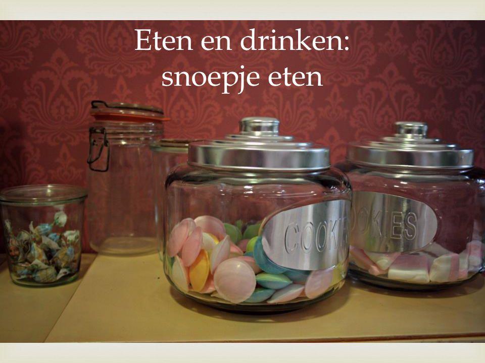  Eten en drinken: snoepje eten