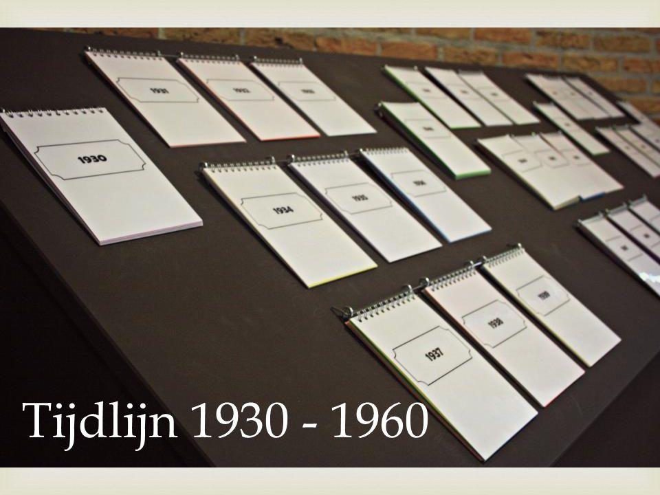  Tijdlijn 1930 - 1960