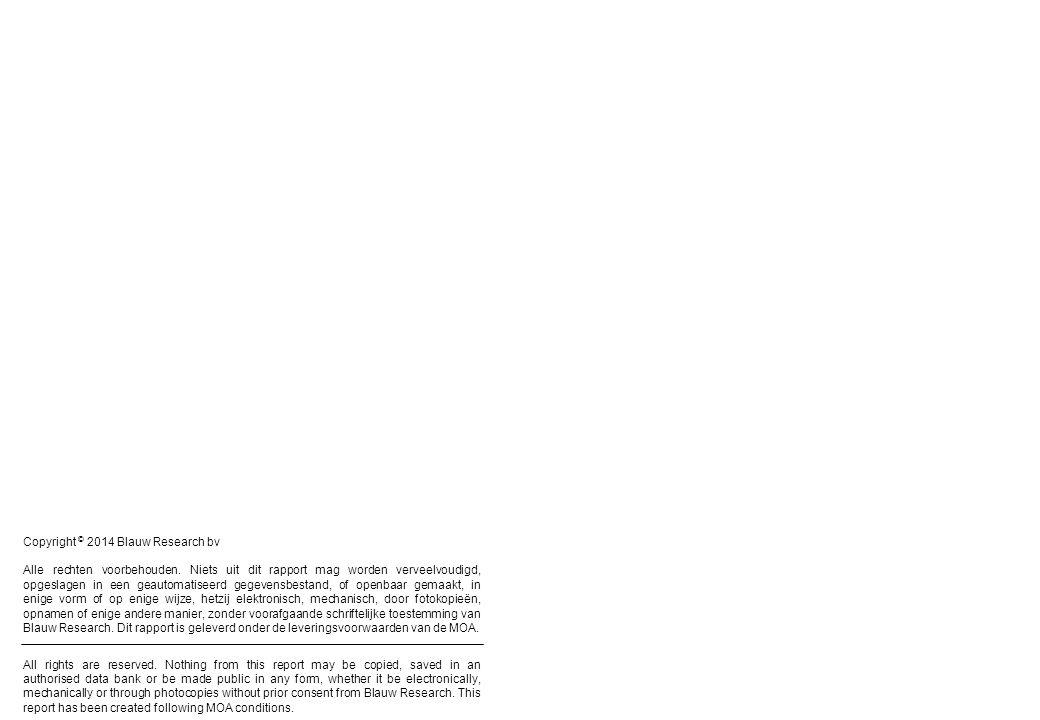VCMB Trendmeter 1420078 / oktober 2014 Pag. 2 Copyright © 2014 Blauw Research bv Alle rechten voorbehouden. Niets uit dit rapport mag worden verveelvo