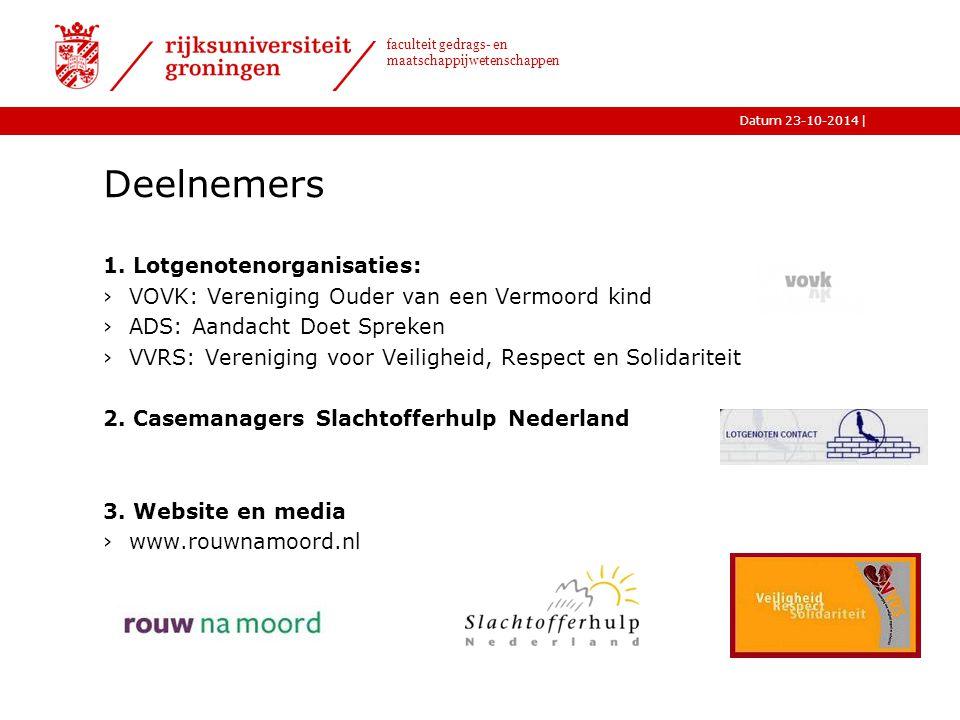 |Datum 23-10-2014 faculteit gedrags- en maatschappijwetenschappen Deelnemers 1.
