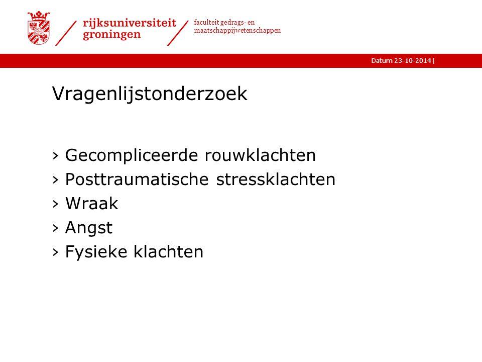 |Datum 23-10-2014 faculteit gedrags- en maatschappijwetenschappen Opzet behandeling: 8 sessies 1.