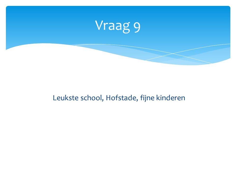 Vraag 9 Leukste school, Hofstade, fijne kinderen