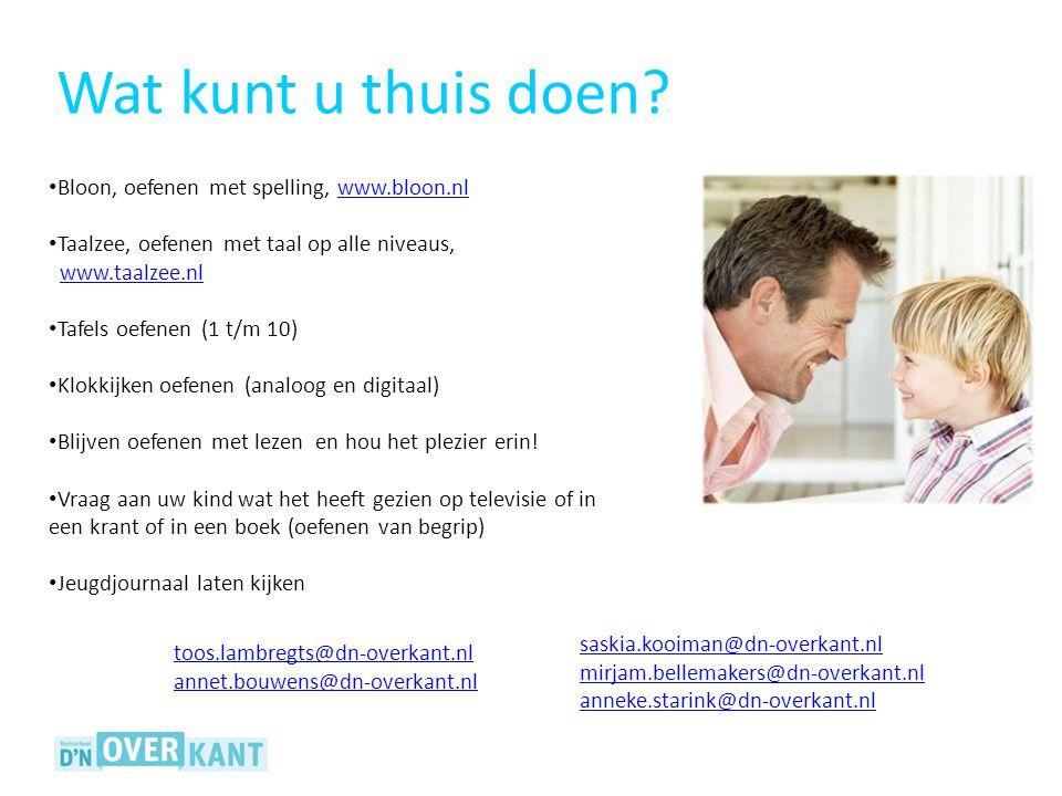 Bloon, oefenen met spelling, www.bloon.nlwww.bloon.nl Taalzee, oefenen met taal op alle niveaus, www.taalzee.nlwww.taalzee.nl Tafels oefenen (1 t/m 10