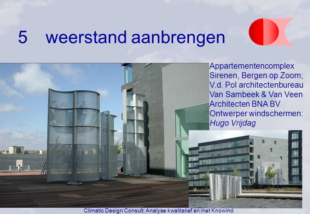 Appartementencomplex Sirenen, Bergen op Zoom; V.d. Pol architectenbureau Van Sambeek & Van Veen Architecten BNA BV Ontwerper windschermen: Hugo Vrijda