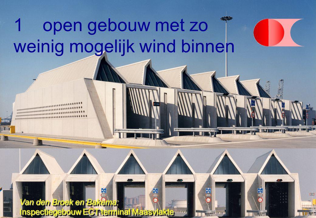 1open gebouw met zo weinig mogelijk wind binnen Van den Broek en Bakema: Inspectiegebouw ECT terminal Maasvlakte