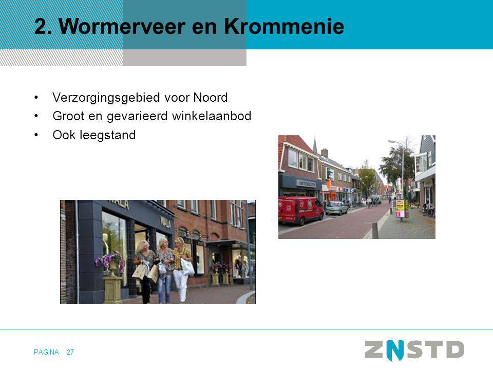 PAGINA 2. Wormerveer en Krommenie Verzorgingsgebied voor Noord Groot en gevarieerd winkelaanbod Ook leegstand 27