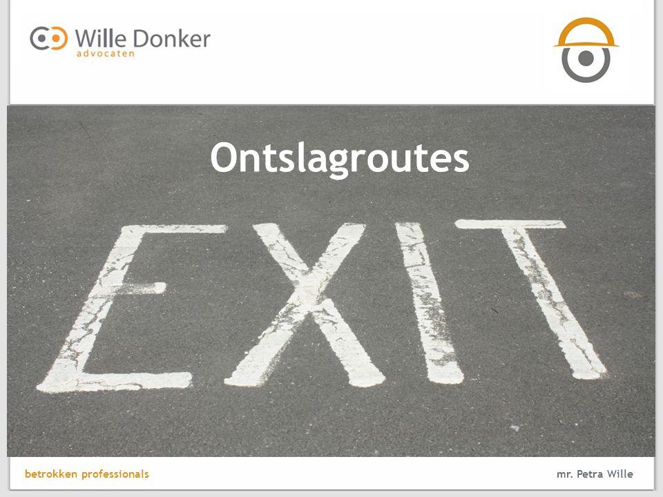 mr. Petra Wille Ontslagroutes betrokken professionals