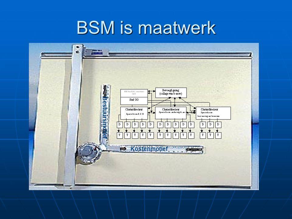 BSM is maatwerk Bestuursmotief Kostenmotief