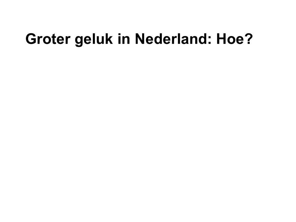 Groter geluk in Nederland: Hoe