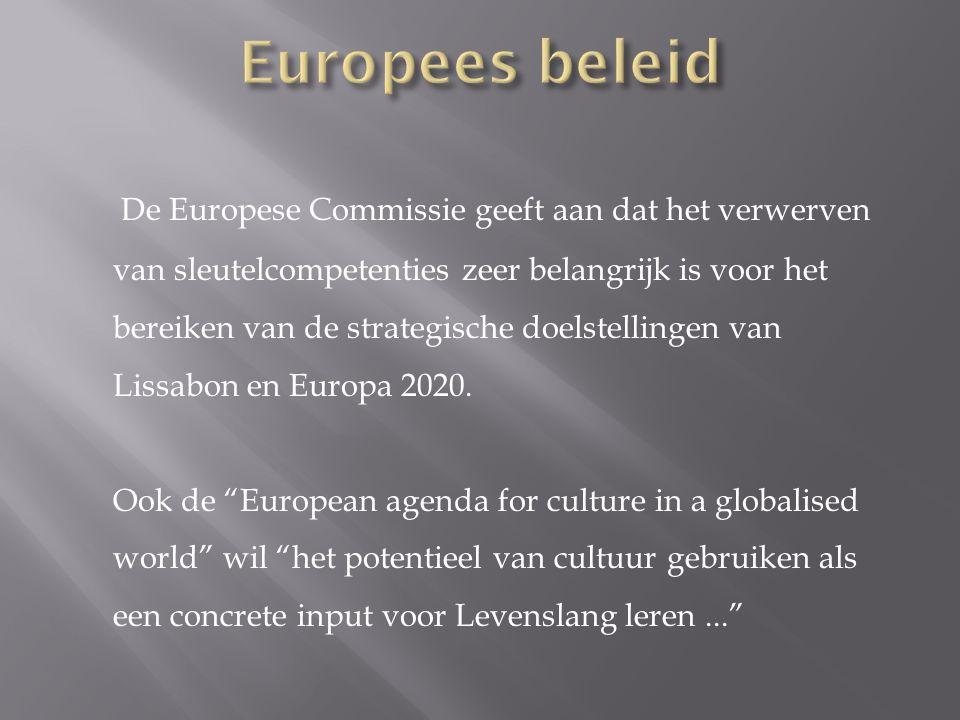De Europese Commissie geeft aan dat het verwerven van sleutelcompetenties zeer belangrijk is voor het bereiken van de strategische doelstellingen van