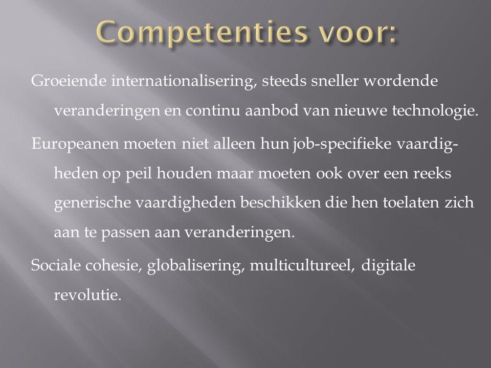 Groeiende internationalisering, steeds sneller wordende veranderingen en continu aanbod van nieuwe technologie. Europeanen moeten niet alleen hun job-