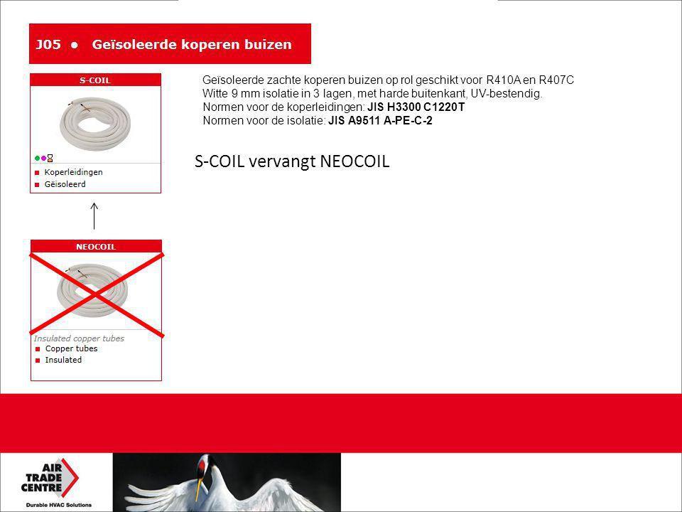 S-COIL vervangt NEOCOIL Geïsoleerde zachte koperen buizen op rol geschikt voor R410A en R407C Witte 9 mm isolatie in 3 lagen, met harde buitenkant, UV