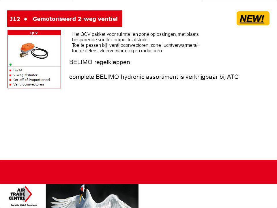 BELIMO regelkleppen complete BELIMO hydronic assortiment is verkrijgbaar bij ATCNEW! Het QCV pakket voor ruimte- en zone oplossingen, met plaats bespa