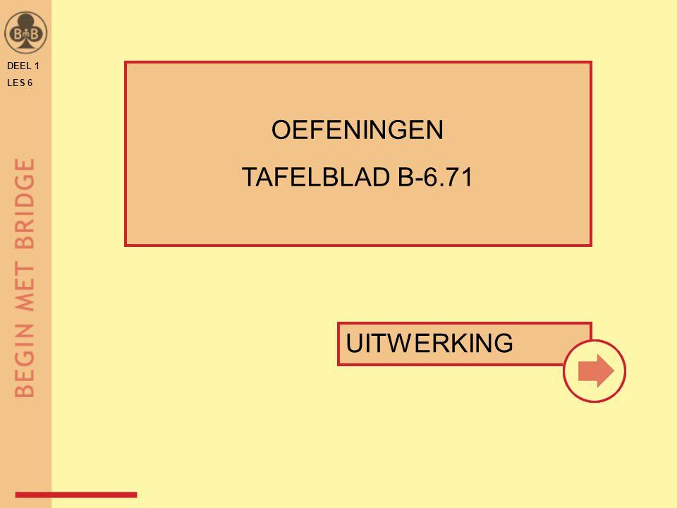 DEEL 1 LES 6 OEFENINGEN TAFELBLAD B-6.71 UITWERKING