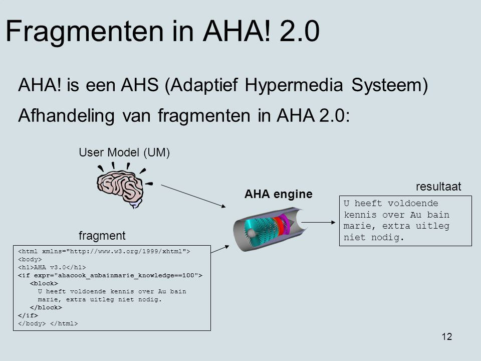 12 Fragmenten in AHA.