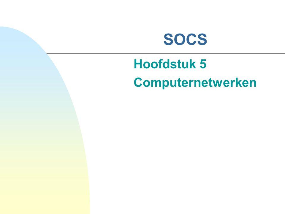 52 4.2 Ethernet Werkingsprincipe (verv.) CSMA/CD CSMA/CD MAMultiple AccessGelijktijdige toegang CSCarrier SenseIn gebruik of draaggolf CDCollision DetectBotsingen detecteren Eigenschappen:   belasting   vertraging   belasting   tot 90% v/d capaciteit nuttig gebruikt indien |pakket|   Geen garantie uitsturen (real time systemen!?!)  CD (door 2 systemen) |pakket|  64 bytes