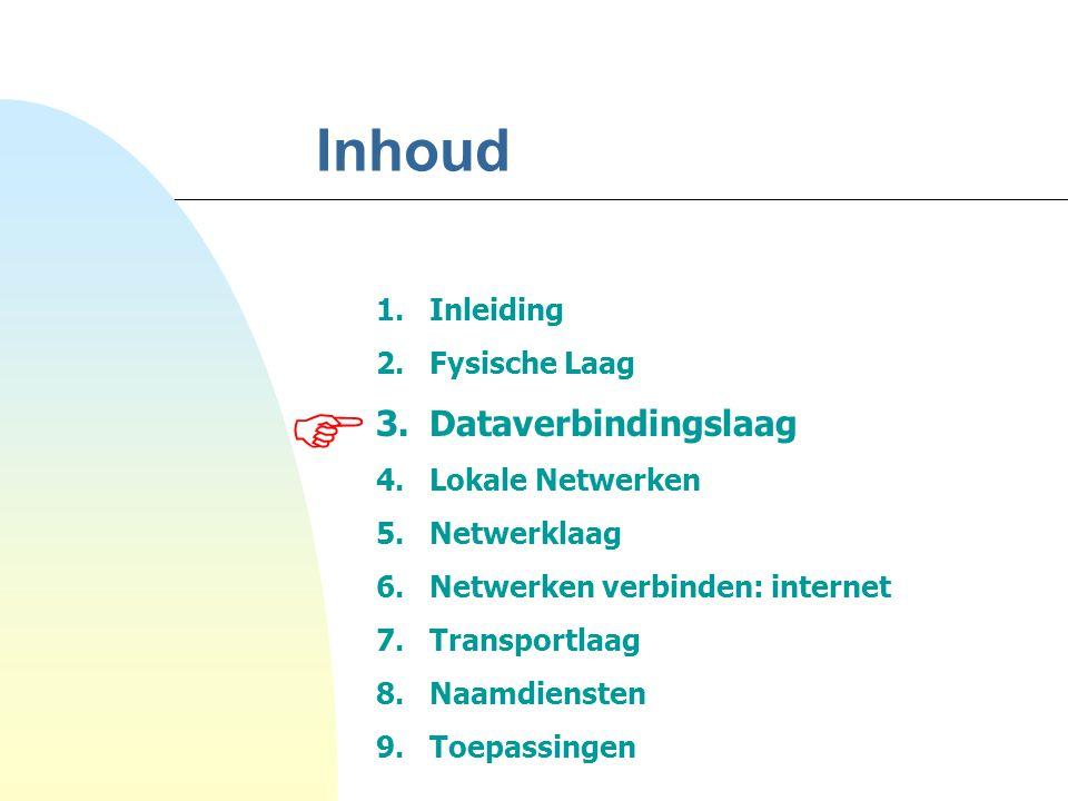 53 4.2 Ethernet (verv.) Pakket Layout Elke verbindingskaart  uniek (wereldwijd) adres = 6 bytes  broadcast adres  naar alle aangesloten systemen Hoofding - bestemmeling - afzender -...
