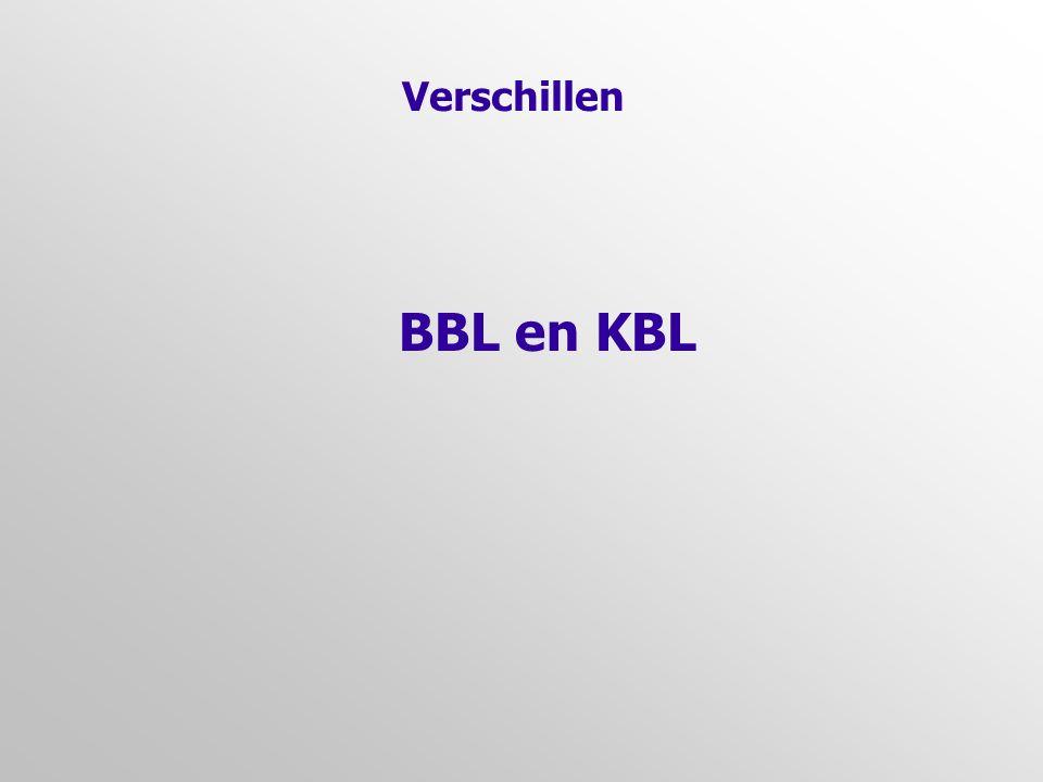 Verschillen BBL en KBL