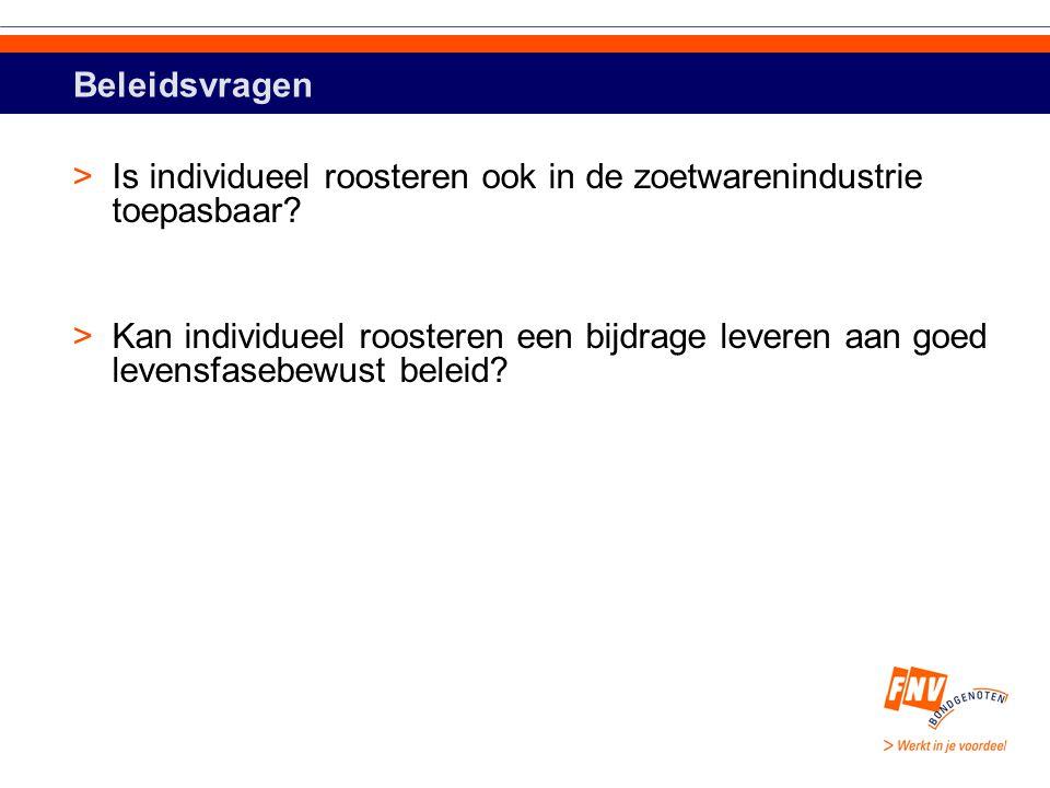 Beleidsvragen >Is individueel roosteren ook in de zoetwarenindustrie toepasbaar.