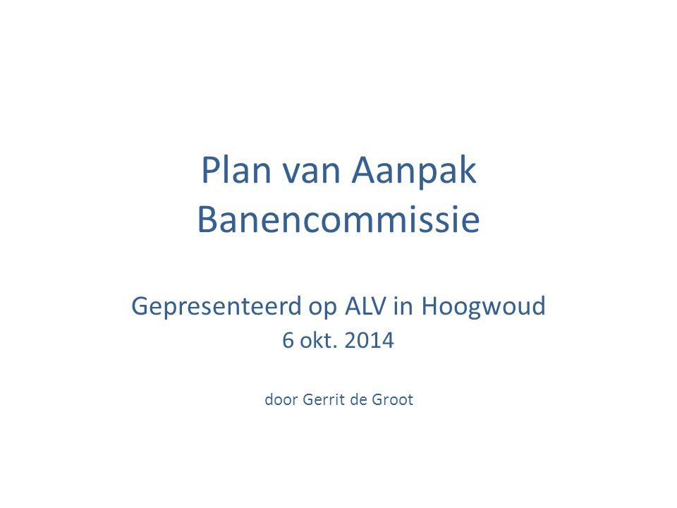 Plan van Aanpak Banencommissie Gepresenteerd op ALV in Hoogwoud 6 okt. 2014 door Gerrit de Groot