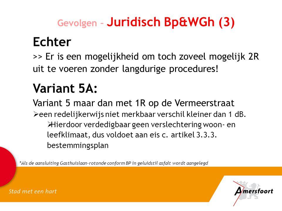 Gevolgen – Juridisch Bp&WGh (3) Echter >> Er is een mogelijkheid om toch zoveel mogelijk 2R uit te voeren zonder langdurige procedures.