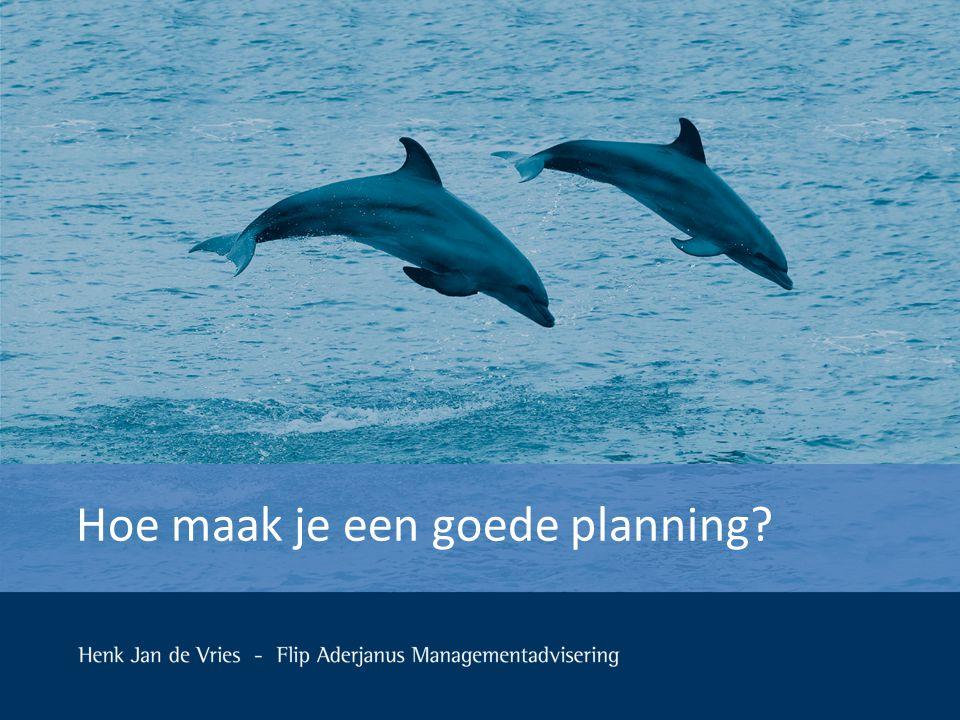 Uitgangspunten/randvoorwaarden in deze case  De opdracht voor het maken van een planning is binnen  Het betreft een planning voor een opdrachtnemer.