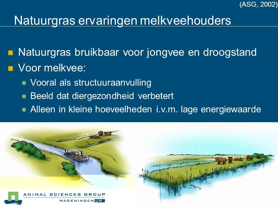 Voederproef Zegveld Proef met 4 niveaus beheerskuil (weidevogelbeheer) 0% 17% 33% 50% van het ruwvoer Daarnaast voorjaarskuil en standaardbrok Onderzoek naar effect op: Voeropname Melkproductie