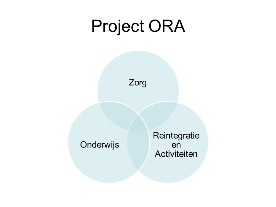 Project ORA een breed ontwikkelingsaanbod voor jeugdzorgplusjongeren, waarbij er een integrale aanpak is van alle direct en indirect betrokken functionarissen.