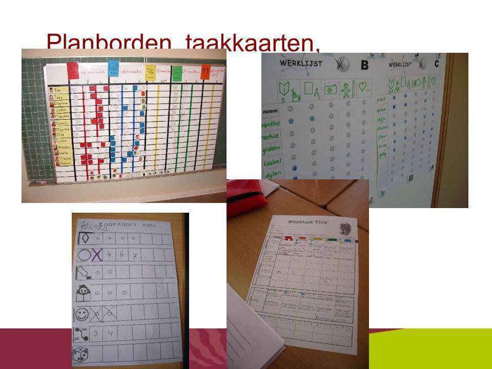 Planborden, taakkaarten, inschrijflijsten…