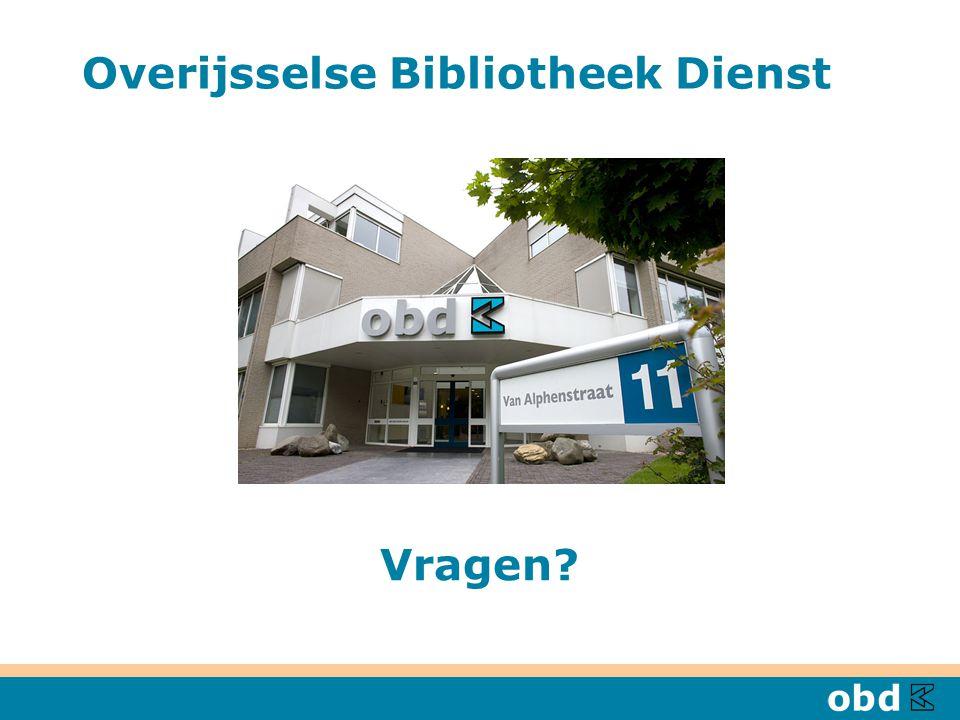 Overijsselse Bibliotheek Dienst Vragen?
