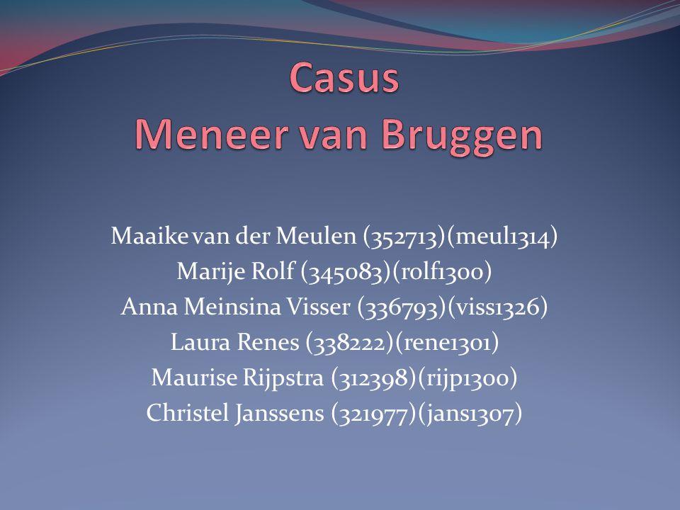 Maaike van der Meulen (352713)(meul1314) Marije Rolf (345083)(rolf1300) Anna Meinsina Visser (336793)(viss1326) Laura Renes (338222)(rene1301) Maurise