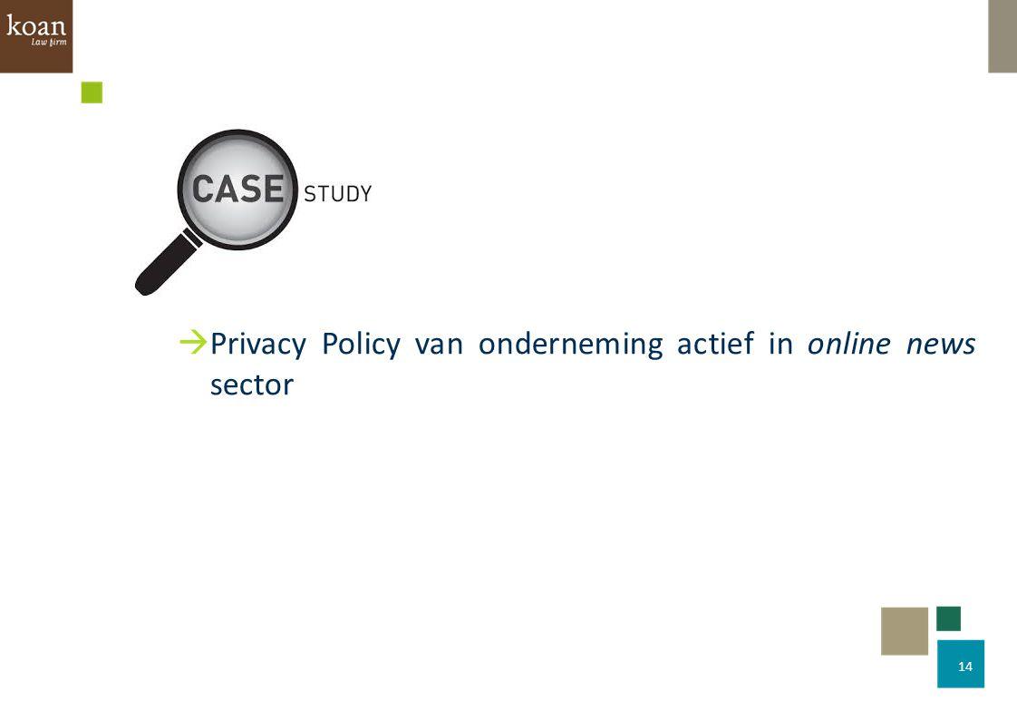 14  Privacy Policy van onderneming actief in online news sector