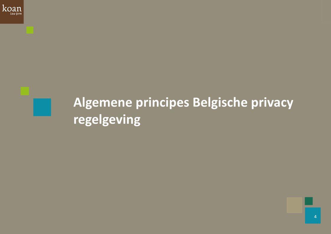 5 O.Bronnen Belgische Privacywet: Wet van 8 december 1992 tot bescherming van de persoonlijke levenssfeer ten opzichte van de verwerking van persoonsgegevens Europese Privacyrichtlijn: Richtlijn 95/46/EG van het Europees Parlement en de Raad van 24 oktober 1995 betreffende de bescherming van natuurlijke personen in verband met de verwerking van persoonsgegevens en betreffende het vrije verkeer van die gegevens  Dit wettelijk kader (daterend van het begin van de jaren '90) regelt onder welke voorwaarden persoonsgegevens mogen worden ingezameld en gebruikt door de operatoren van sociale netwerken, door bedrijven en door de eindgebruikers zelf.