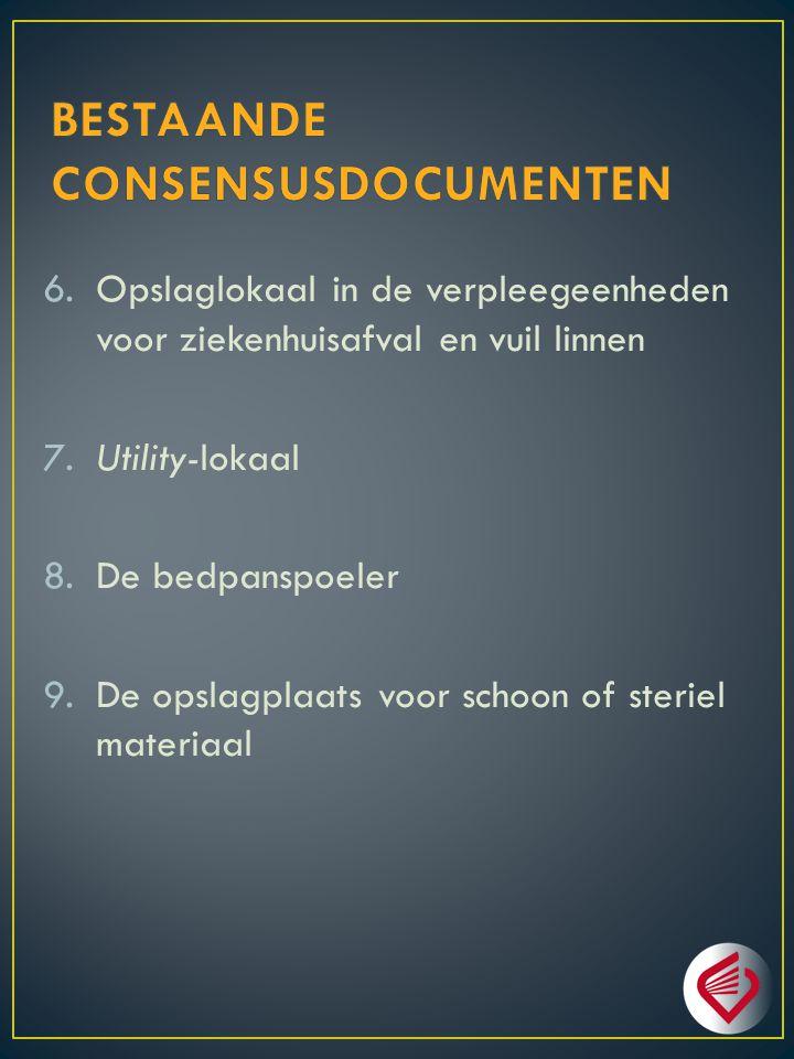 10.Schoonmaakberging in de verzorgingseenheid 11.