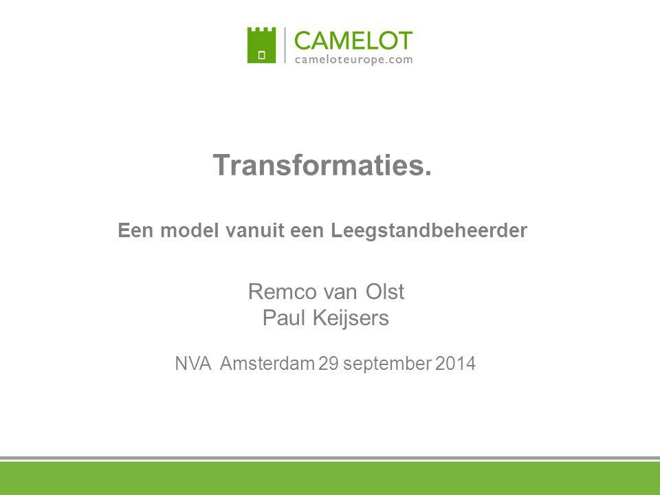 Transformaties. Een model vanuit een Leegstandbeheerder Remco van Olst Paul Keijsers NVA Amsterdam 29 september 2014