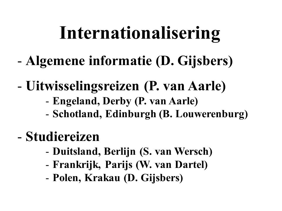INTERNATIONALISERING September 2014