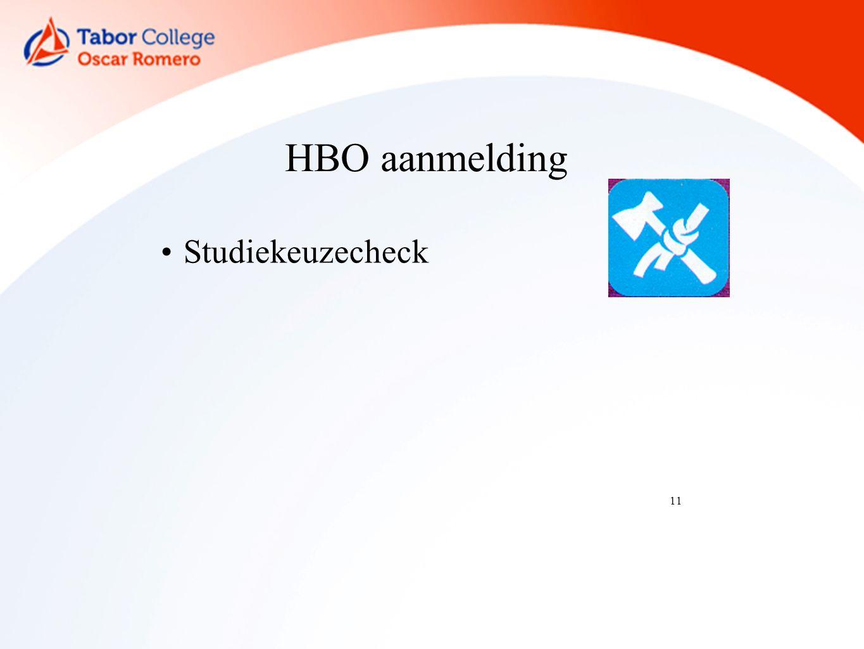 11 HBO aanmelding Studiekeuzecheck