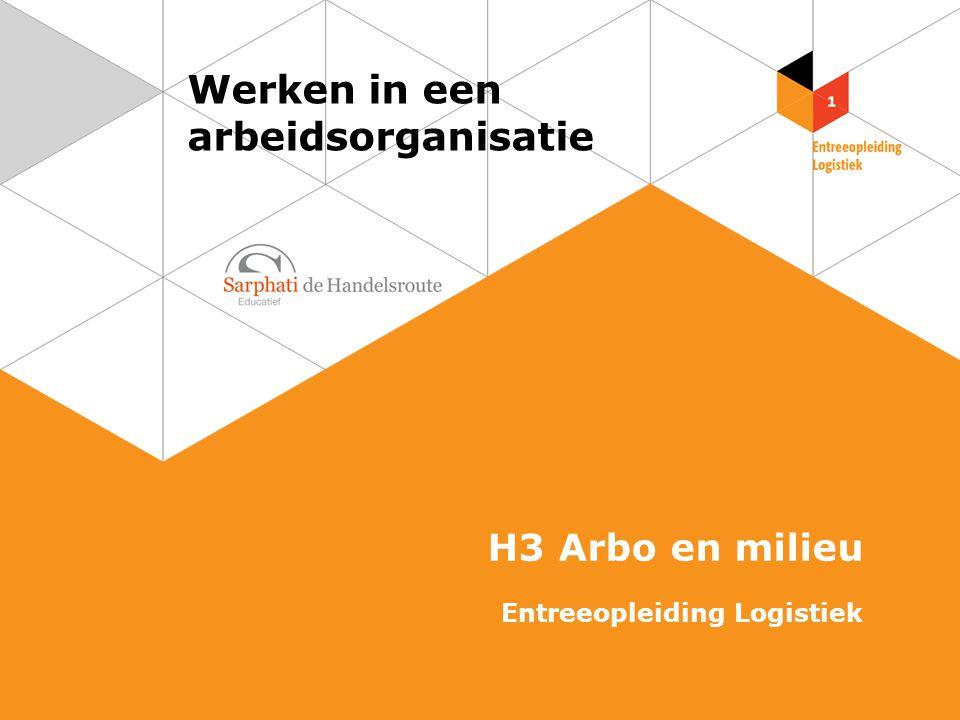 Werken in een arbeidsorganisatie H3 Arbo en milieu Entreeopleiding Logistiek