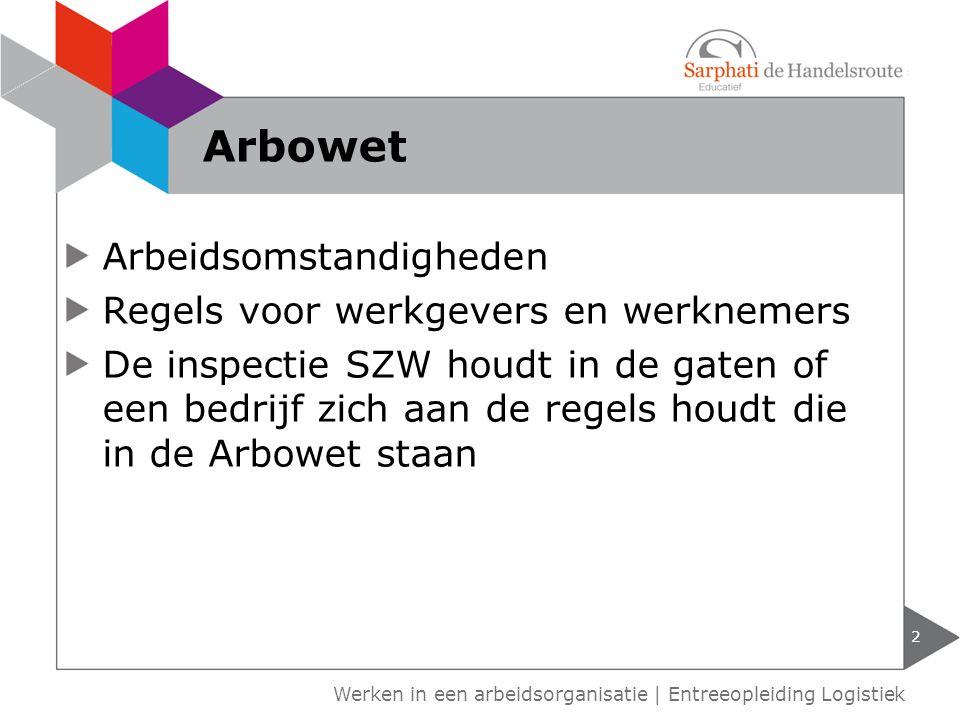 3 Werken in een arbeidsorganisatie   Entreeopleiding Logistiek Arbowet