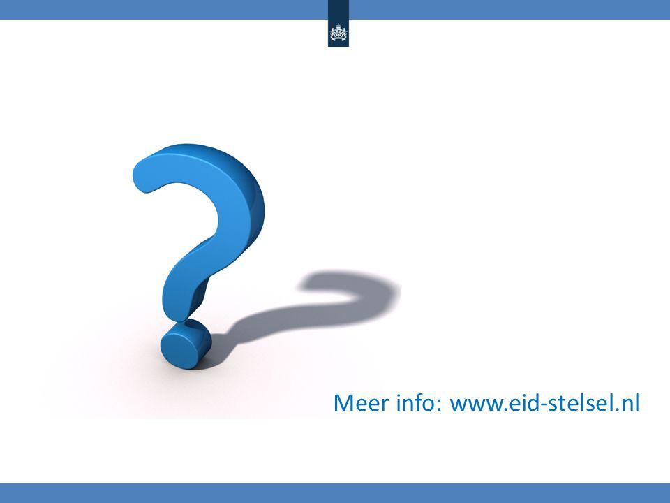 Meer info: www.eid-stelsel.nl
